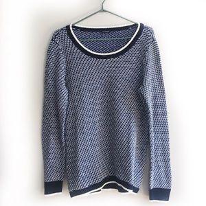 Talbots Blue Knit Crewneck Sweater